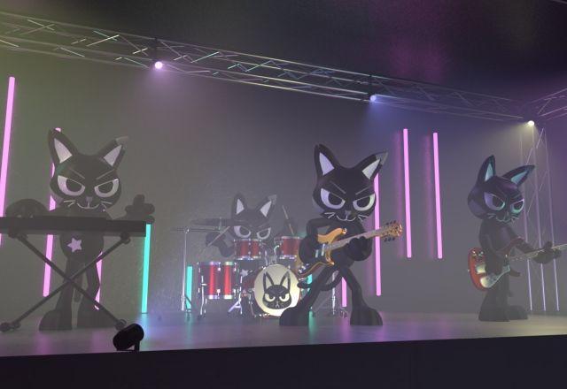 世界初の黒猫バンドが登場!AMOWの #黒猫ロック が流行語になるかも!?